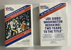 2 NFL FILMS SUPER BOWL XVII 17 HOG DAY AFTERNOON & Joe Gibbs 1982-83 BETA II