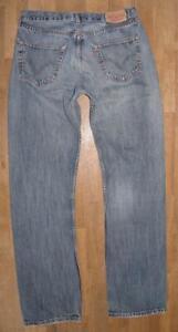 """lange LEVI`S 501 Herren- Jeans / LEVIS Blue- Jeans in blau in ca. W33"""" /L35"""""""