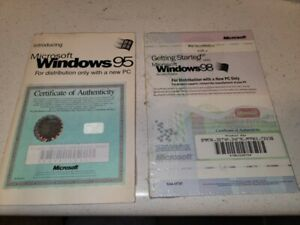 Microsoft Windows 95 and Windows 98 Getting Started Manuals.