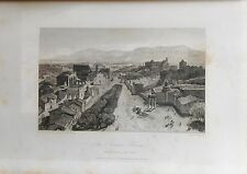 ITALIA. ROME, ROMA, FORUM, GRABADO ORIGINAL DE HAKEWILL, 1820