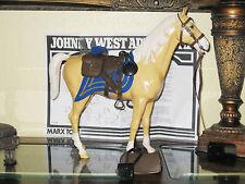 Marx Johnny West Horse Custom Vintage US (CAVALRY BROWN SADDLE TACK) LQQKS NEW!