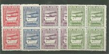 SOUTH AFRICA 1925 AIRMAIL STAMPS. BLOCKS OF FOUR. MNH