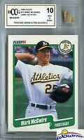 1990 Fleer #15 Mark McGwire Hidden Treasures w/GAME USED BAT BECKETT 10 MINT!
