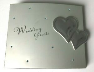 WEDDING GUEST BOOK SILVER METAL COVER