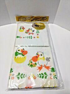 Vintage Linette Tablecloth 12 Matched Party Napkins Ducks Dessert Baby Shower