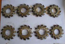 Lot 8pcs M2.75 20degree #1-8 Involute Gear Cutters HSS