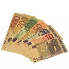 Euro 24 Karat Gold Scheine Geld Bank Papier Noten Europa Deko Sammler Bilder