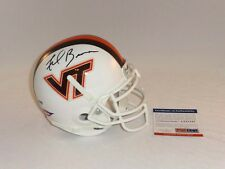 FRANK BEAMER SIGNED VIRGINIA TECH HOKIES MINI HELMET PSA DNA 2