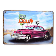 Vintage Metal Tin Signs Route 66 Motel Poster Pub Bar Decor Art Wall Hanging