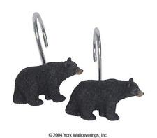 Black Bear Lodge Shower Hooks Multicolored Shower Curtain Hooks New