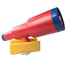 LoggyLand Teleskop Fernrohr Schwenkbar für Spielturm Spielhaus Spielbett rot