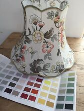 """COUNTRY HOUSE FLORAL LAMP SHADE 12"""" TALL X 8 1/2"""" TOP X 16"""" BOTTOM"""