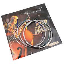 4 Pcs Cello String Parts Set German Silver C-G-D-A For Full Size 4/4 -3/4 AV30