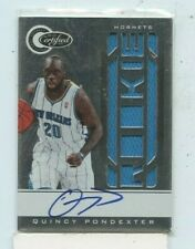 QUINCY PONDEXTER 2010-11 Panini Certified Rookie Jersey Auto Autograph #D /585