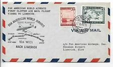 PAN AMERICAN WORLD AIRWAYS FIRST CLIPPER AIRMAIL FLIGHT~VIENNA-LIMERICK,IRELAND