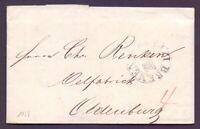 Vorphilabrief Stadtpostamt Bremen 1839 mit Schlüsselstempel nach Oldenburg (754)