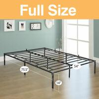 Full Size Platform Bed Frame Heavy Duty Mattress Platform Folding Steel Base