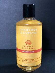 Crabtree & Evelyn Citron & Coriander Energizing  Body Wash  8.5 Fl