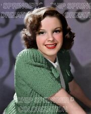JUDY GARLAND Wearing a Green Sweater (#1) | 8x10 COLOR Photo by CHIP SPRINGER