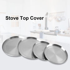 4Pcs/Set Round Stainless Steel Kitchen Stove Top Burner Covers Cooker Protection