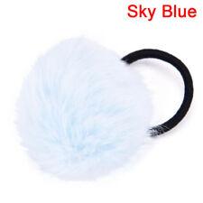 Elastic Women Girls Pompom Ball Hairband Rope Ring Hair Band Ponytail Holder LJ