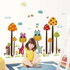 Cartoon Giraffe Girl Wall Sticker Kindergarten Decal Home Decor School Baby Room