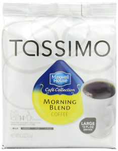 Maxwell House Morning Blend Coffee, Mild Roast, T-Discs for Tassimo Brewing M...