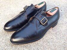 John Lobb Fould Munk Strap Black Shoes 8 1/2 E