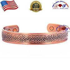 CHUNKY 100% COPPER CELTIC DESIGN MAGNETIC BANGLE/CUFF/BRACELET ARTHRITIS Y19C_M