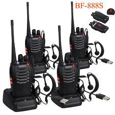 4 Set Walkie Talkie Baofeng BF-888S 16 Kanäle Handfunkgeräte 50Ω mit Headset DE