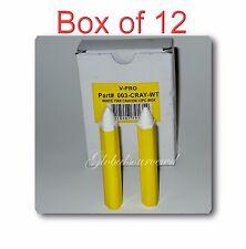 Box of 12 Pc V-Pro White Tires Markal Pen Paint-stick - TireTool