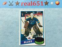 1980 Topps #31 MIKE LIUT Rookie | St. Louis Blues Goalie RC | Nice Vintage