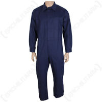 Original German Work Overalls Blue - Army Military Surplus Coveralls