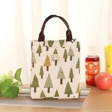 1PC Unisex Fashion Insulation Package Portable Waterproof Canvas Lunch Bag D YT8