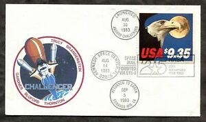 p308 - Challenger Space Mail NASA FDC Cover 1983 - $9.35 Express Mail Stamp