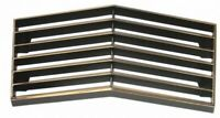 1973 C3 CORVETTE FRONT CENTER GRILL WITH CHROME EDGE NEW REPRODUCTION