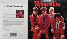 "SIGNED THE ROMANTICS AUTOGRAPHED 12"" LP CERTIFIED PSA LOA # AF04324"