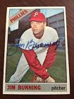 JIM BUNNING 1966 Topps #435 Baseball Card AUTO Autograph Signed PHILLIES