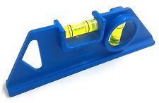 2 VIAL POCKET TORPEDO SPIRIT LEVEL 150MM LENGTH MADE IN ENGLAND BLUE
