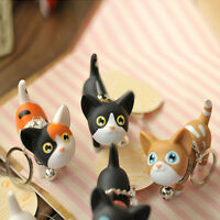 1PC Lovely Cat Style Key Bag Chain Keyring Bell Naughty Rotation Charm Keychains