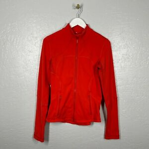 Lululemon Size 4 Forme Jacket Red Love Red Full Zip Long Sleeve Pockets Luon