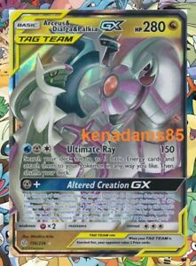 Pokemon SM12 Cosmic Eclipse Arceus & Dialga & Palkia GX Ultra Rare Card 156/236