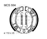 TRW Lucas Bremsbacken mit Federn MCS800 hinten Benelli Naked 50 AC