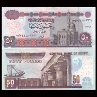 Egypt 50 Pounds, 2013, P-66, UNC, Banknotes, Original