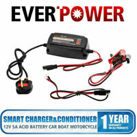 12V 5A Car Smart Battery Charger Conditioner Lead Acid Battery Motorcycle Truck