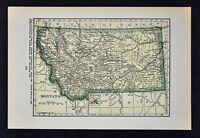 1927 Hammond Map - Montana Helena Missoula Great Falls Butte Boseman Billings MT