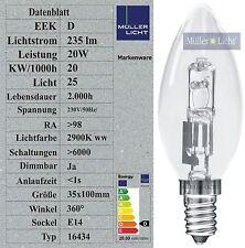 20W Halogen Kerzenlampe E14 Glühbirne Nachfolger für 25W Glühlampe Halogenlampe