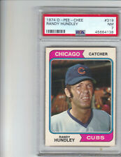 1974 O-PEE-CHEE OPC #319 RANDY HUNDLEY,(1 OF 2,NONE GRADED HIGHER) PSA NM 7