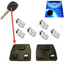 2x für Toyota Funkschlüssel Autoschlüssel Tastenfeld Gummi + 6 Taster + Batterie