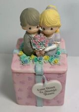 Precious Moments - Love Vows to Always Bloom Trinket Box - 1999